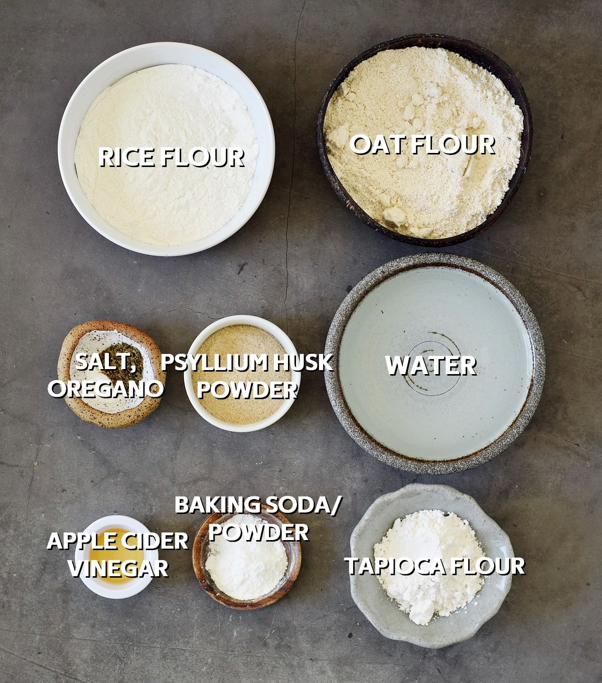 Ingredients for baguette