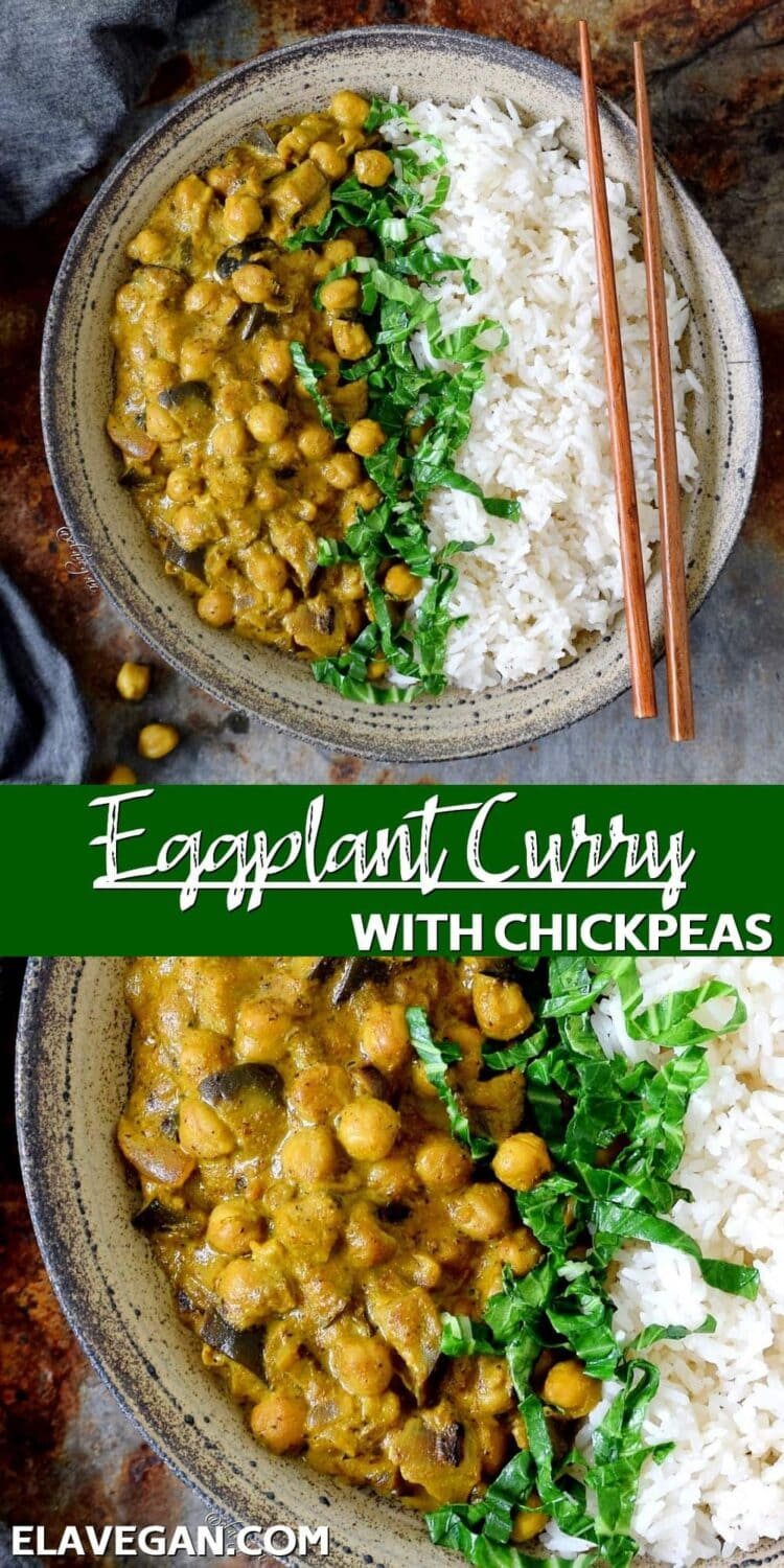 Pinterest Collage Eggplant Curry with chickpeas