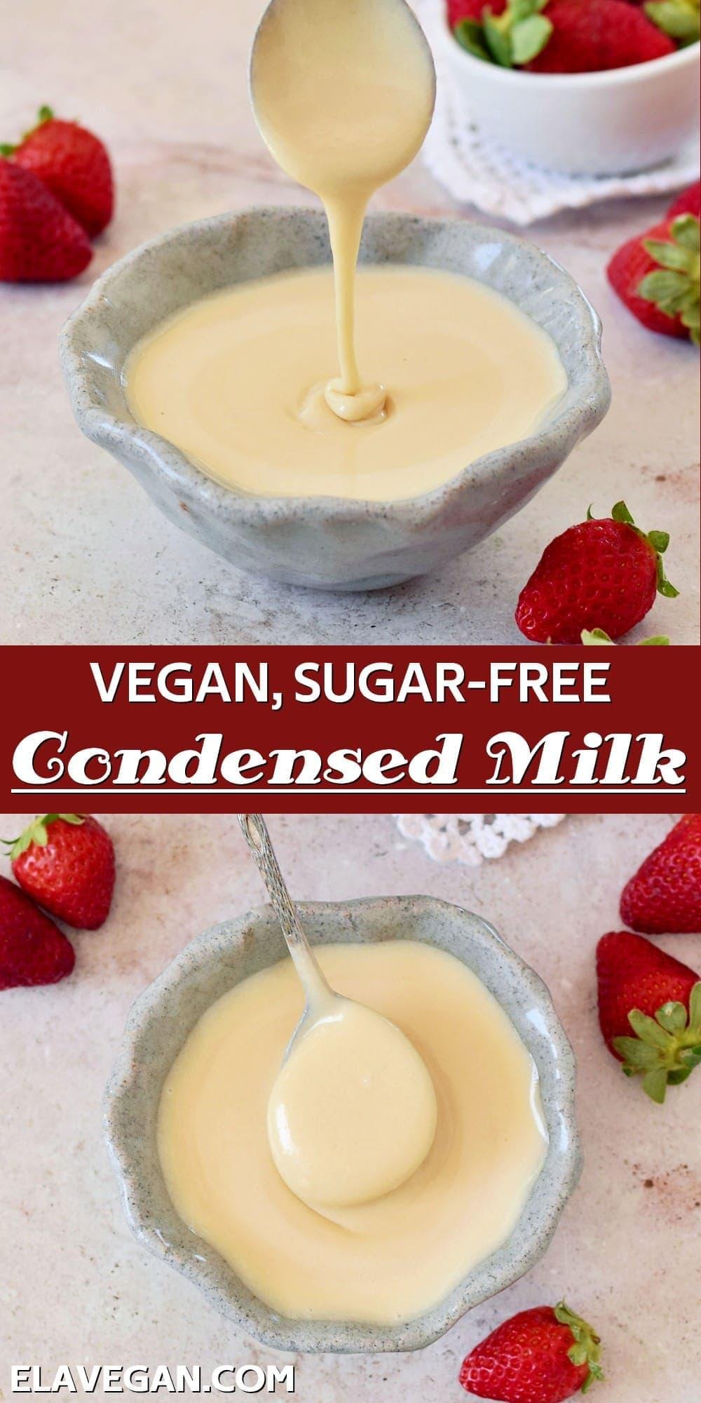 Pinterest Collage Vegan Sugar-Free Condensed Milk
