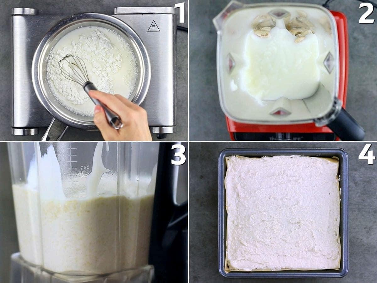 4 step-by-step photos how to make cashew cream
