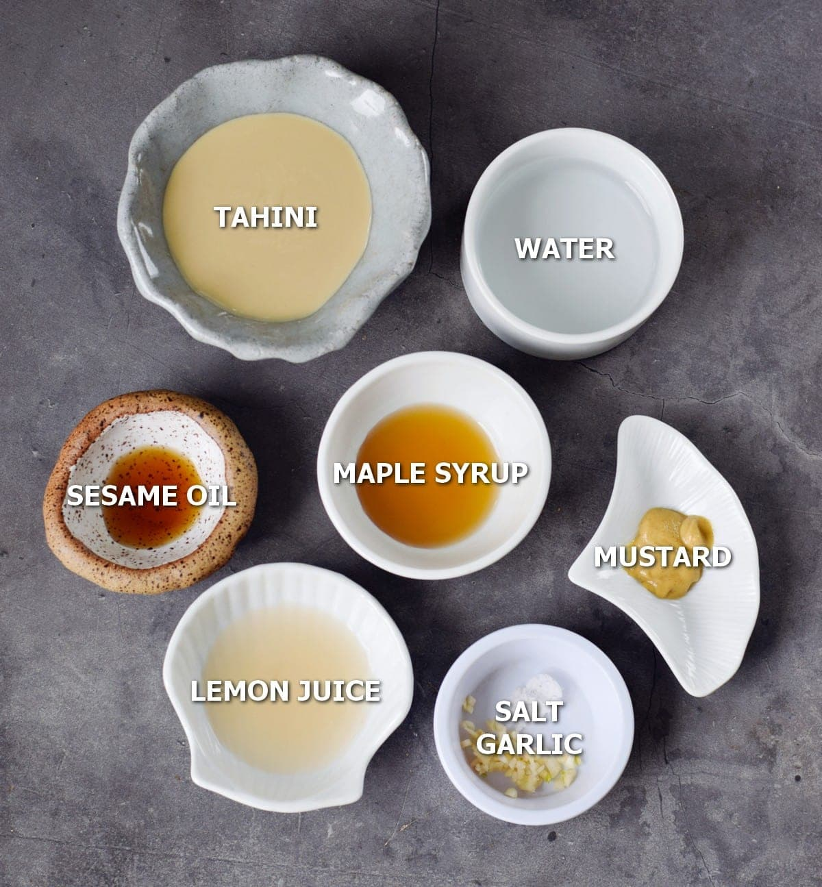 Ingredients for tahini sauce