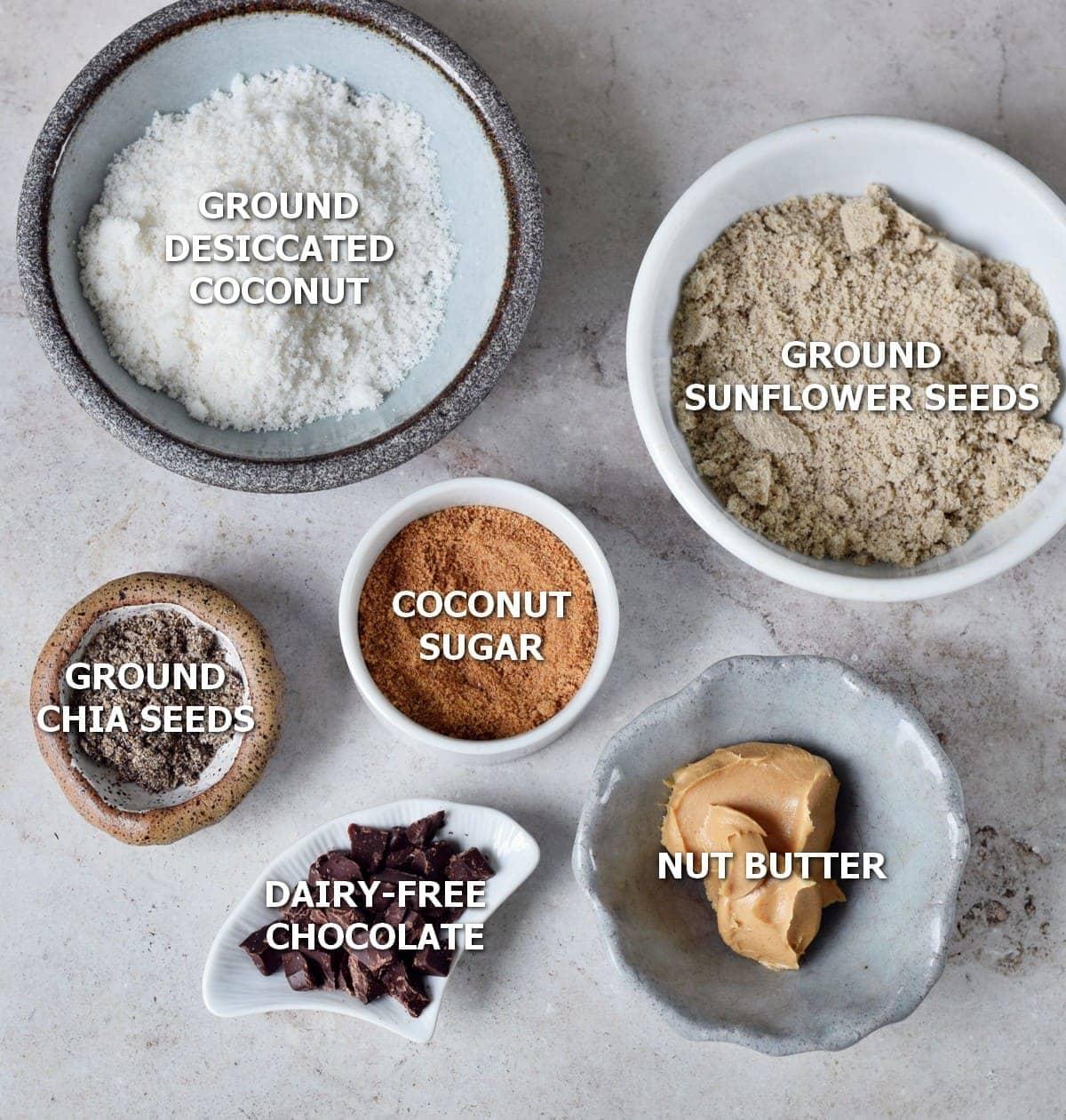 Ingredients for vegan cookies