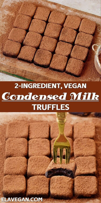 Pinterest Collage Condensed Milk Truffles