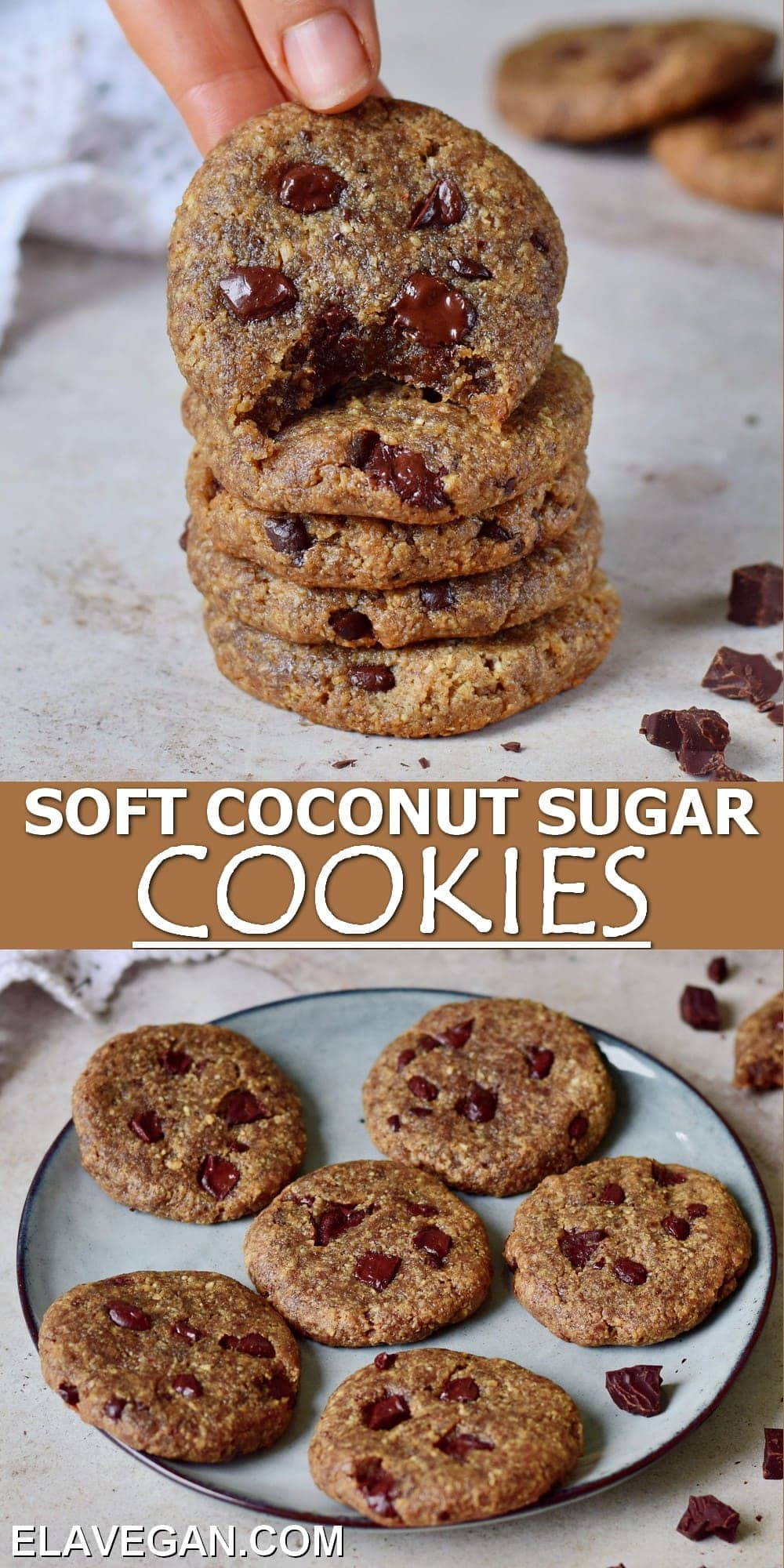 Pinterest Collage coconut sugar cookies