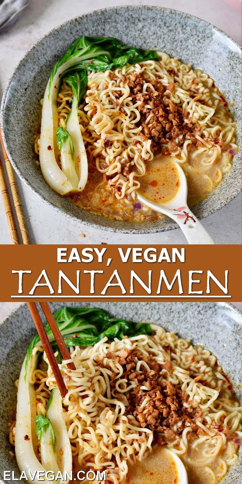 Pinterest Collage easy vegan Tantanmen