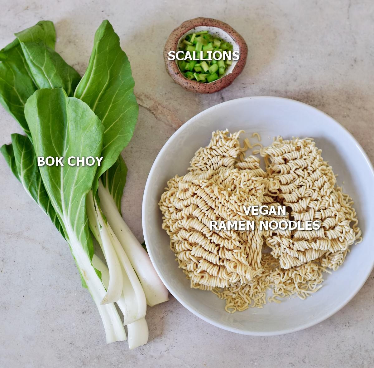 ingredients for vegan tantanmen