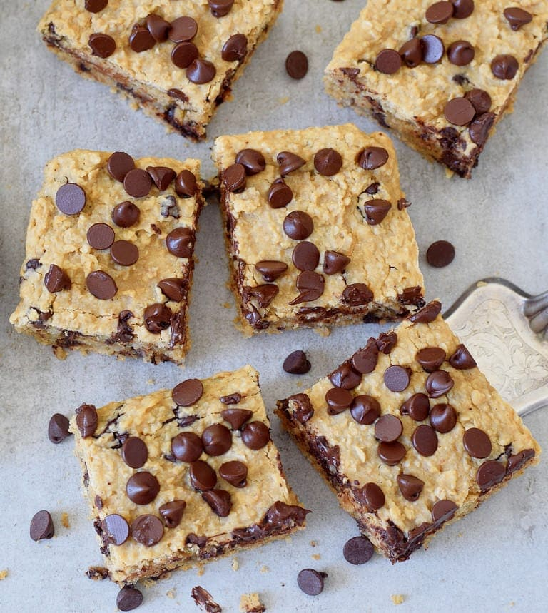6 oatmeal chocolate chip bars from above