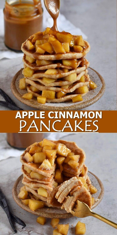 Pinterest Collage apple cinnamon pancakes