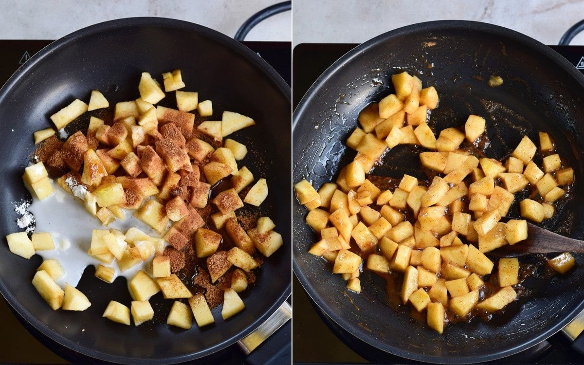 apple topping with cinnamon