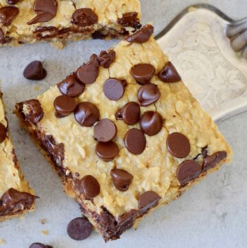 a few oatmeal bars chocolate chip bars from above