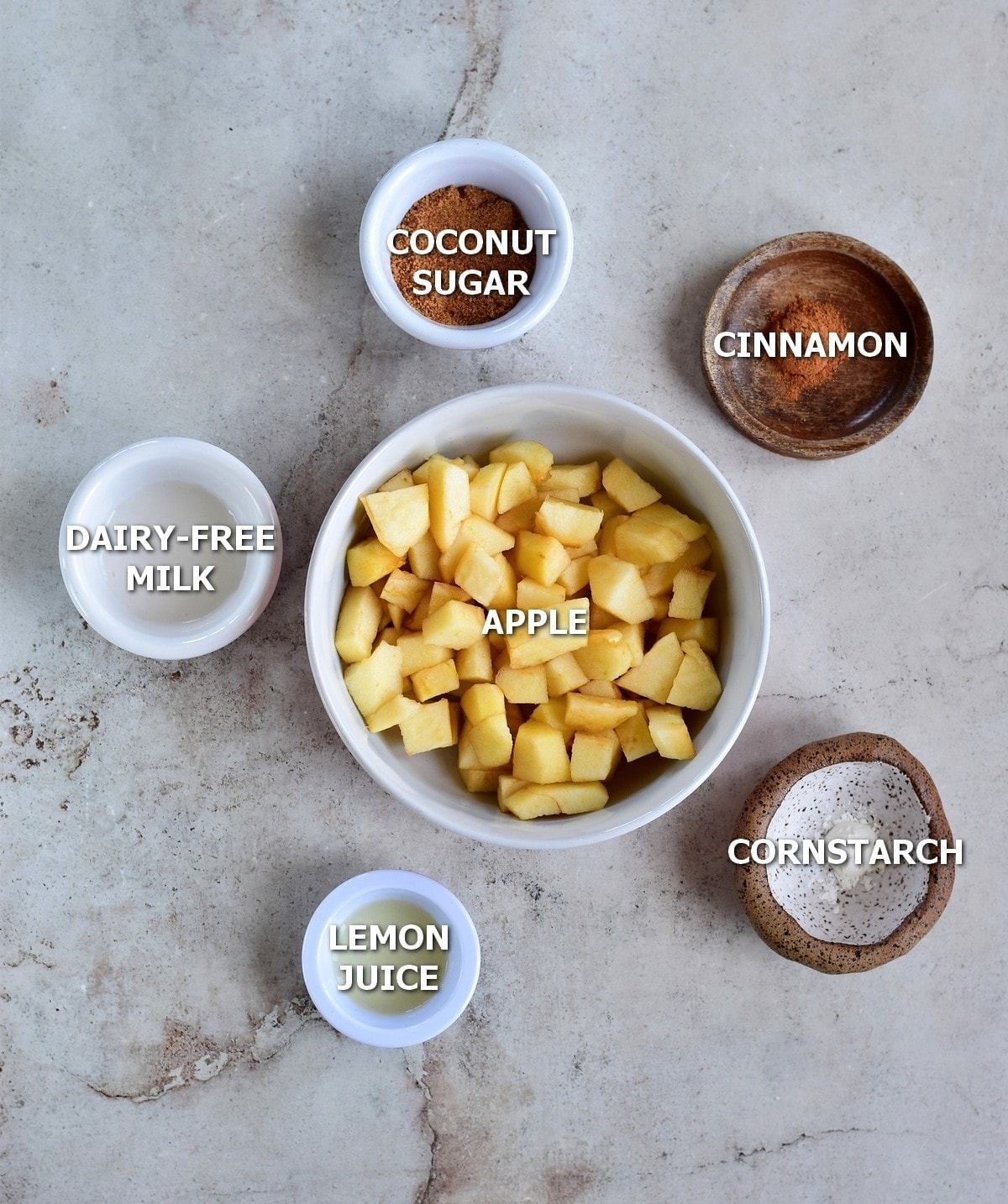 ingredients for apple topping