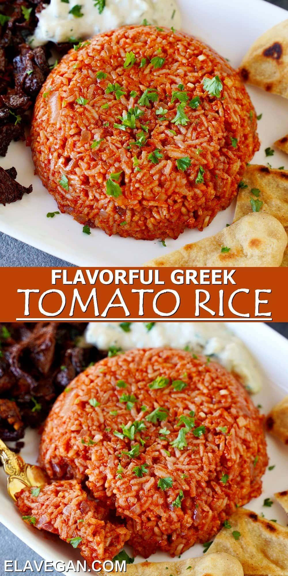 Pinterest Collage flavorful Greek Tomato Rice