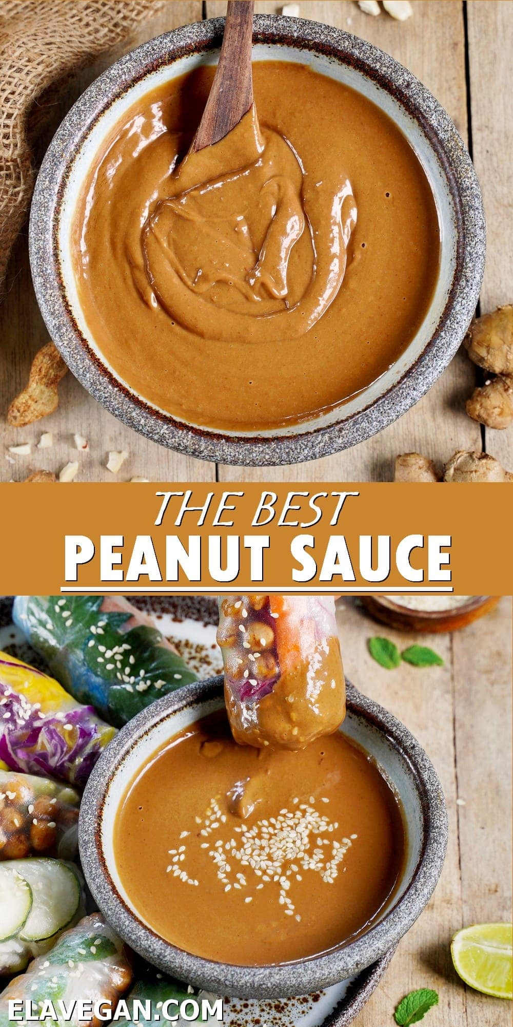 Pinterest Collage the best peanut sauce