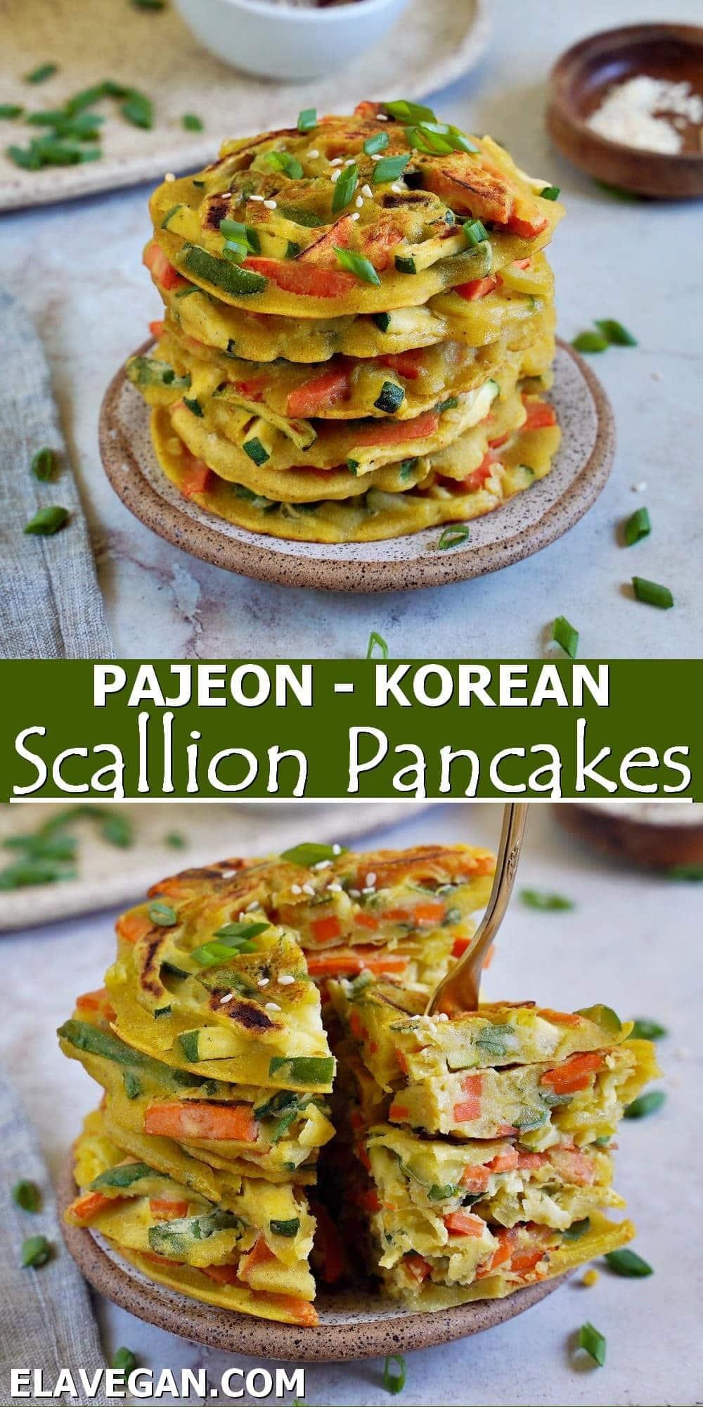 Pinterest Pajeon - Korean Scallion Pancakes
