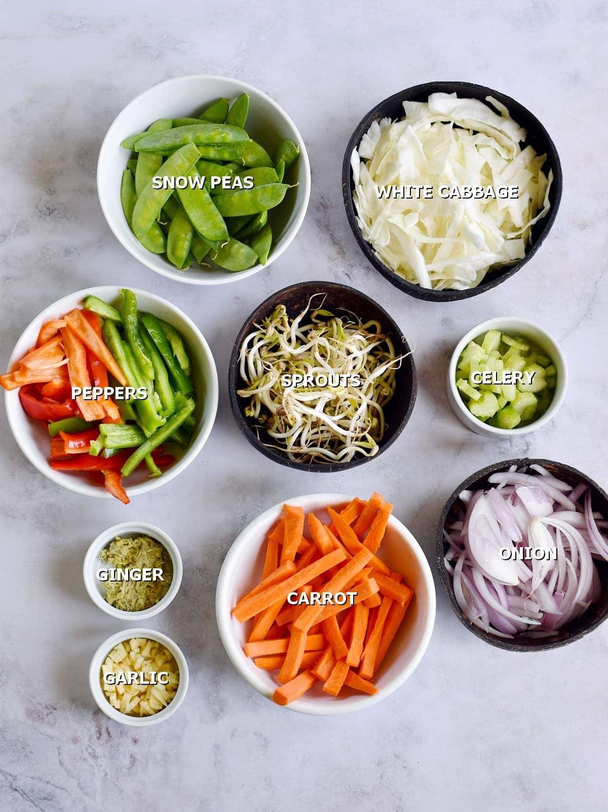 different veggies
