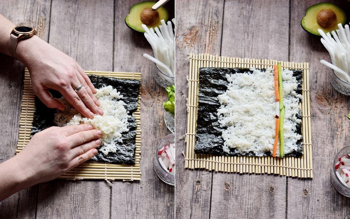 how to assemble makizushi
