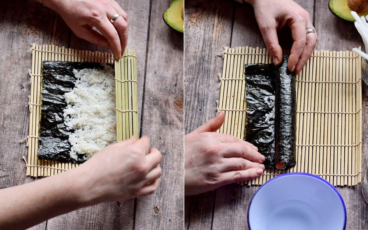 how to roll vegan sushi