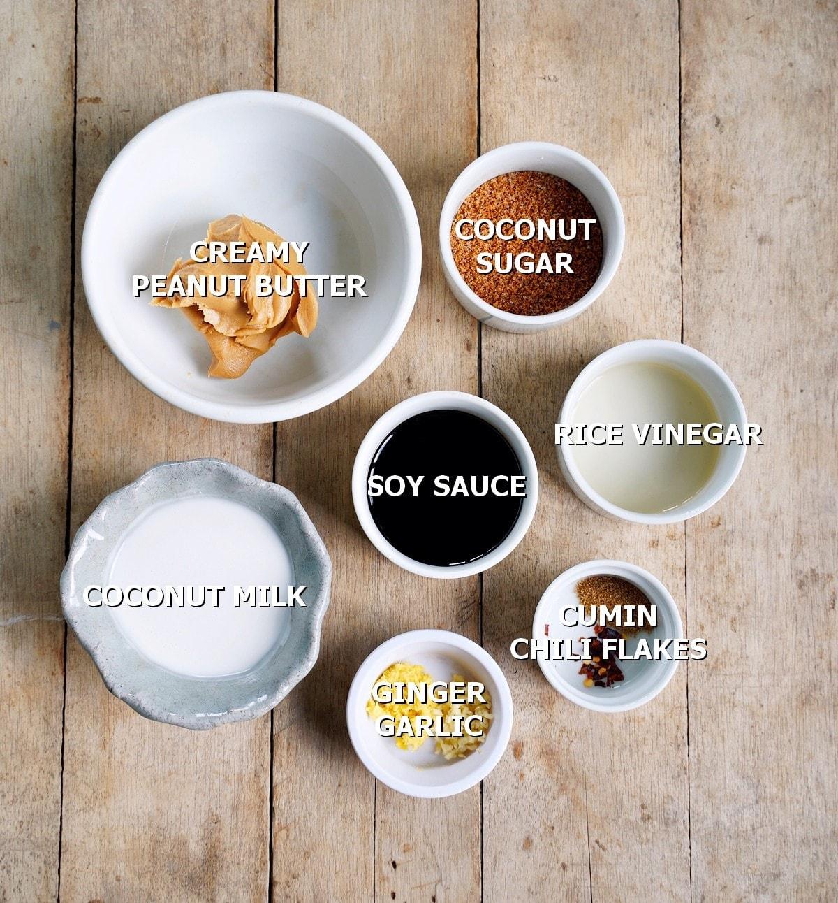 ingredients for PB dip