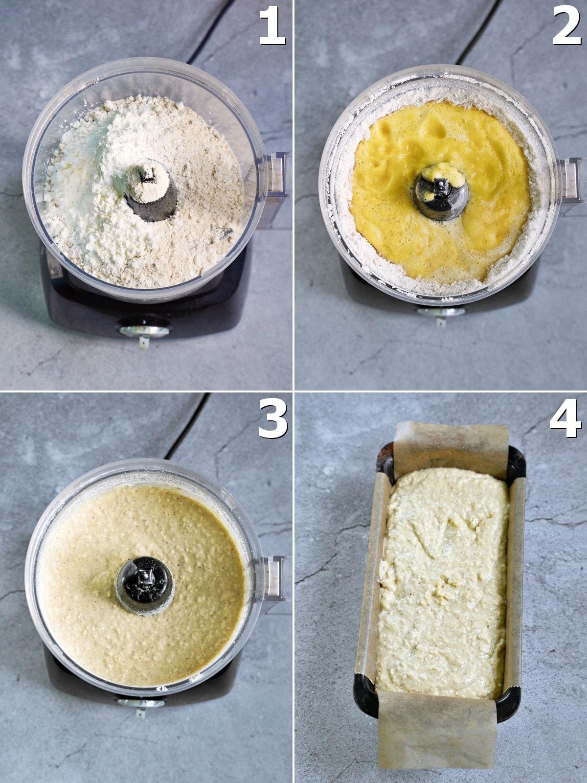 4 Schritt-für-Schritt-Fotos, wie man einen Rührkuchen mit Ananas macht