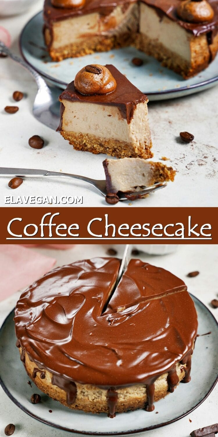 Pinterest Collage coffee cheesecake