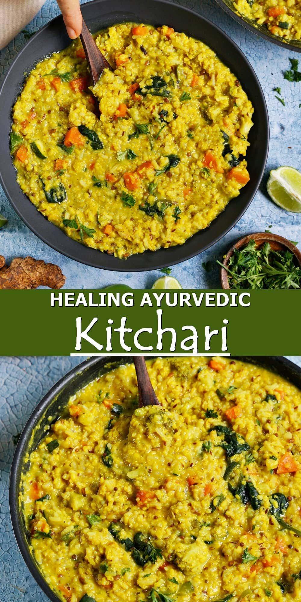Pinterest collage healing Ayurvedic Kitchari