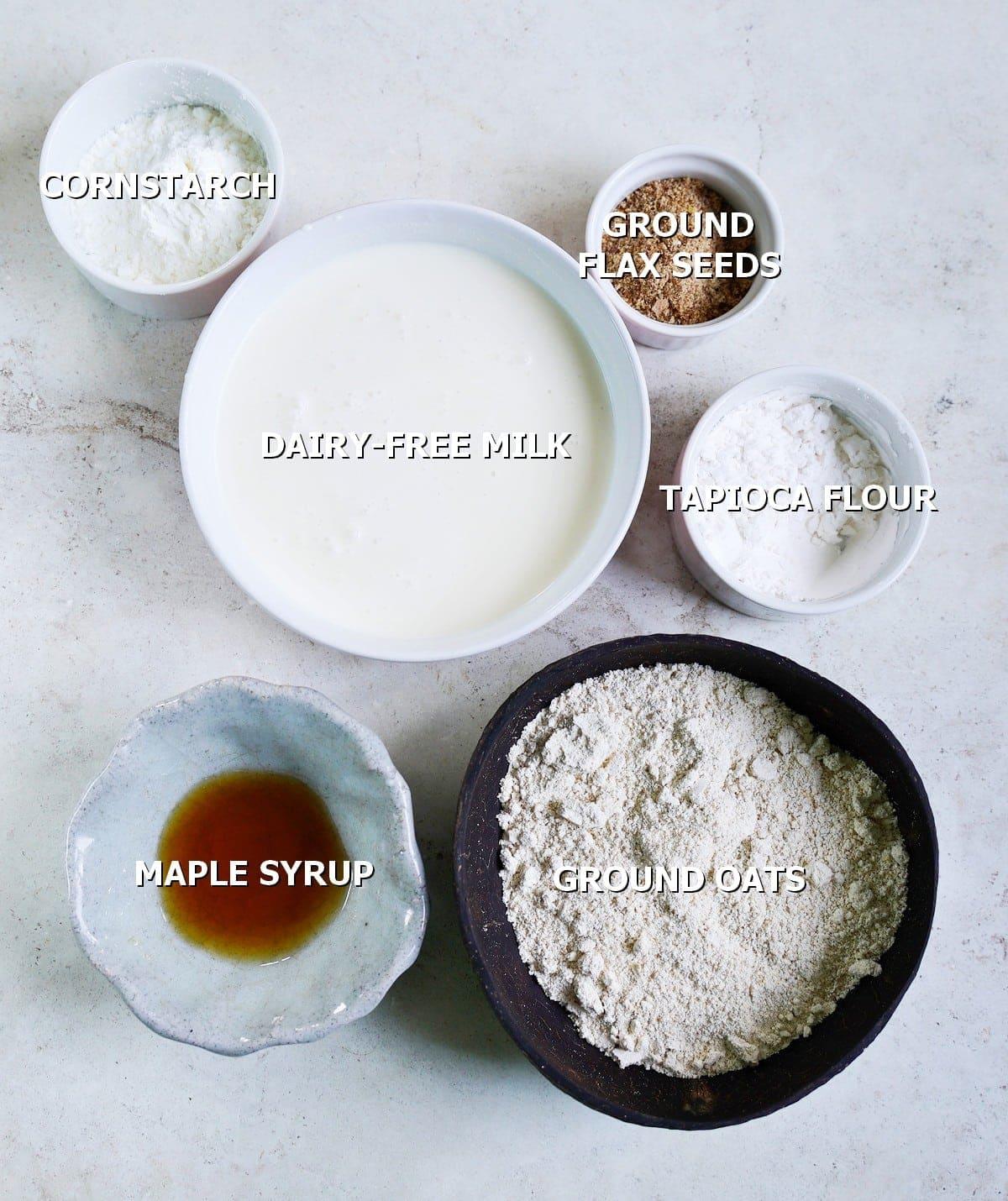 ingredients for crepe batter
