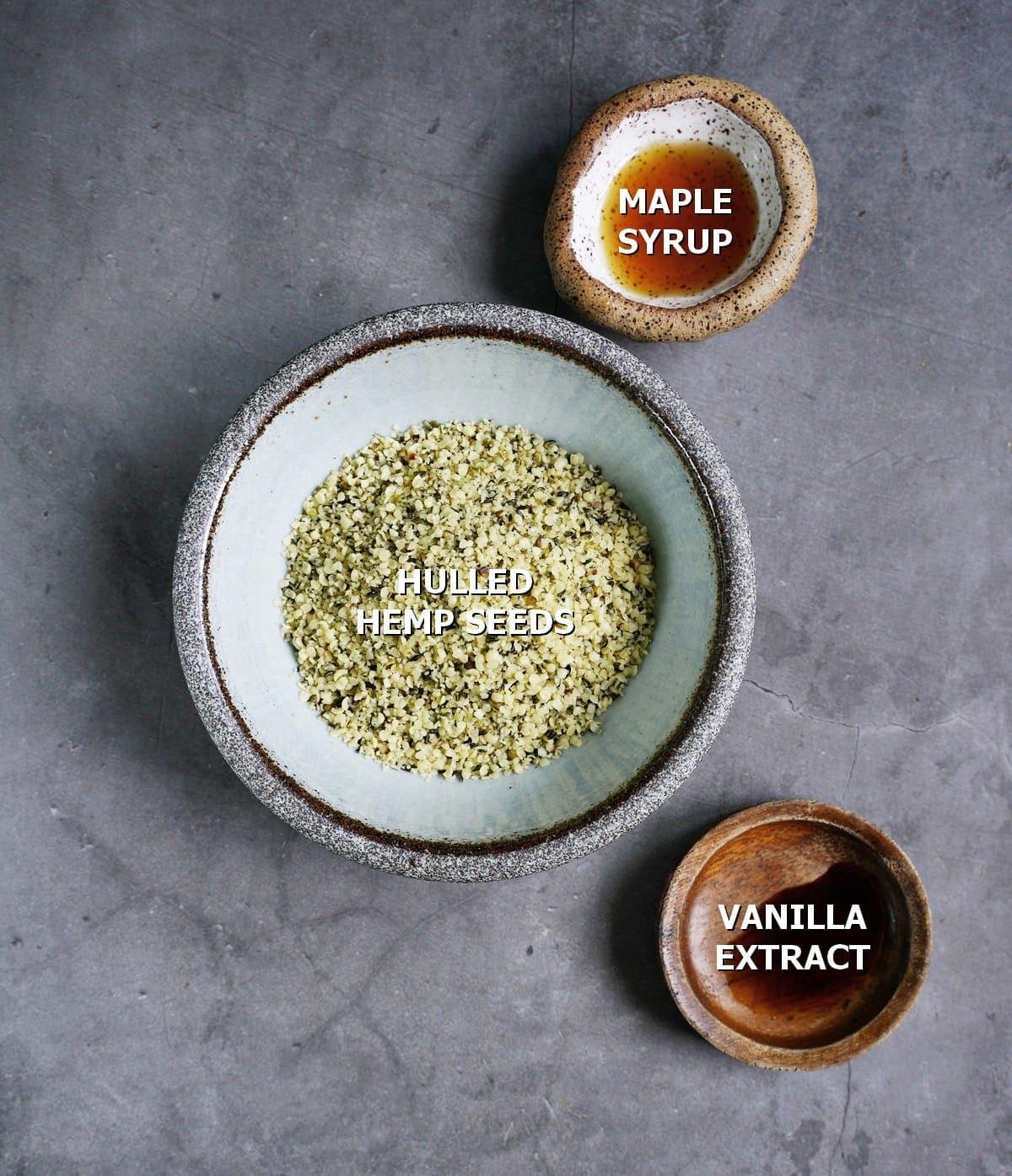 ingredients for plant-based mylk