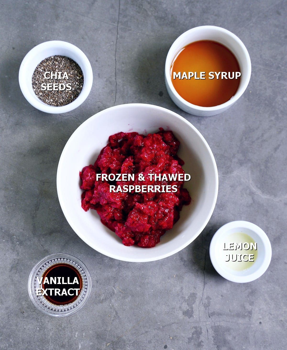 ingredients for berry compote