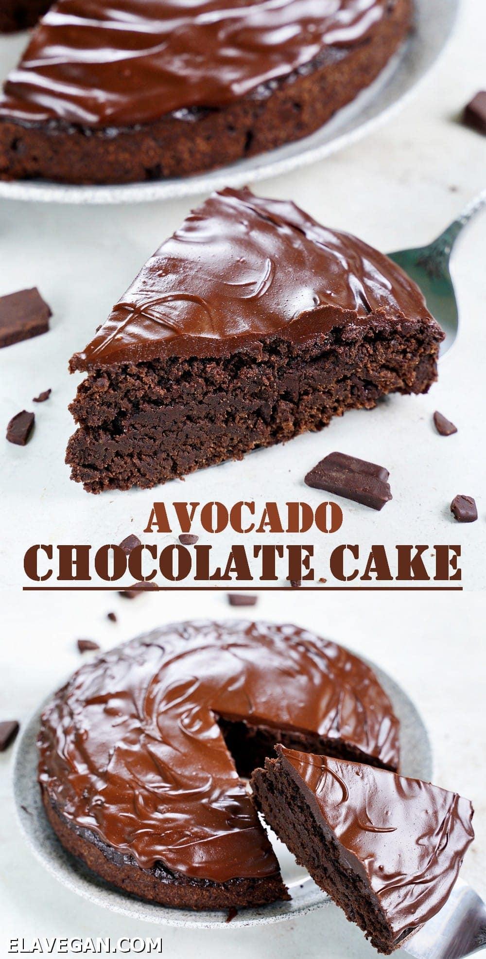 Pinterest Collage avocado chocolate cake