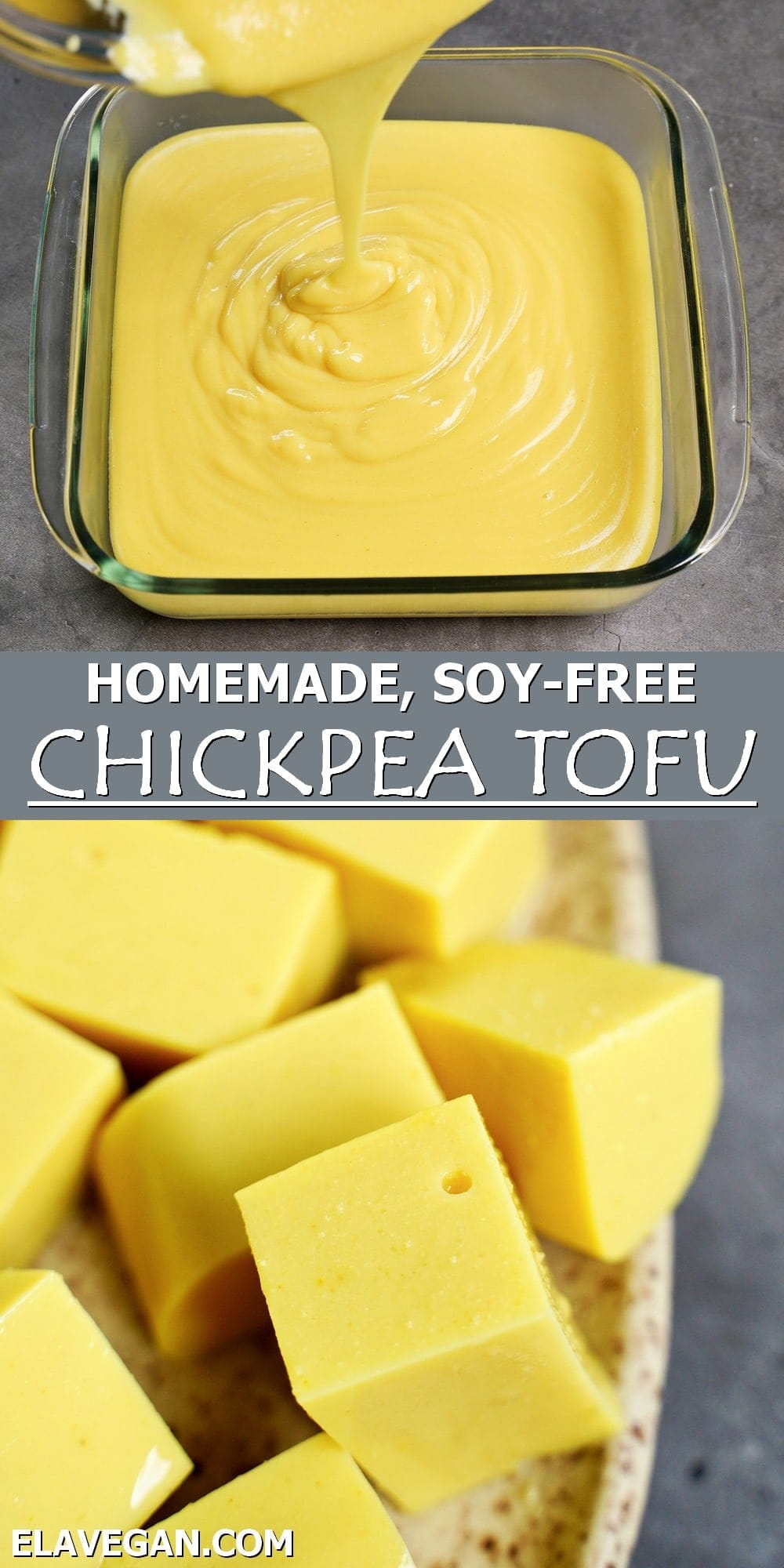 Pinterest Collage homemade, soy-free chickpea tofu