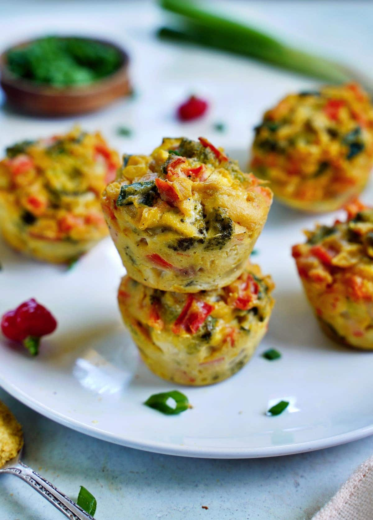 savory vegan egg muffins