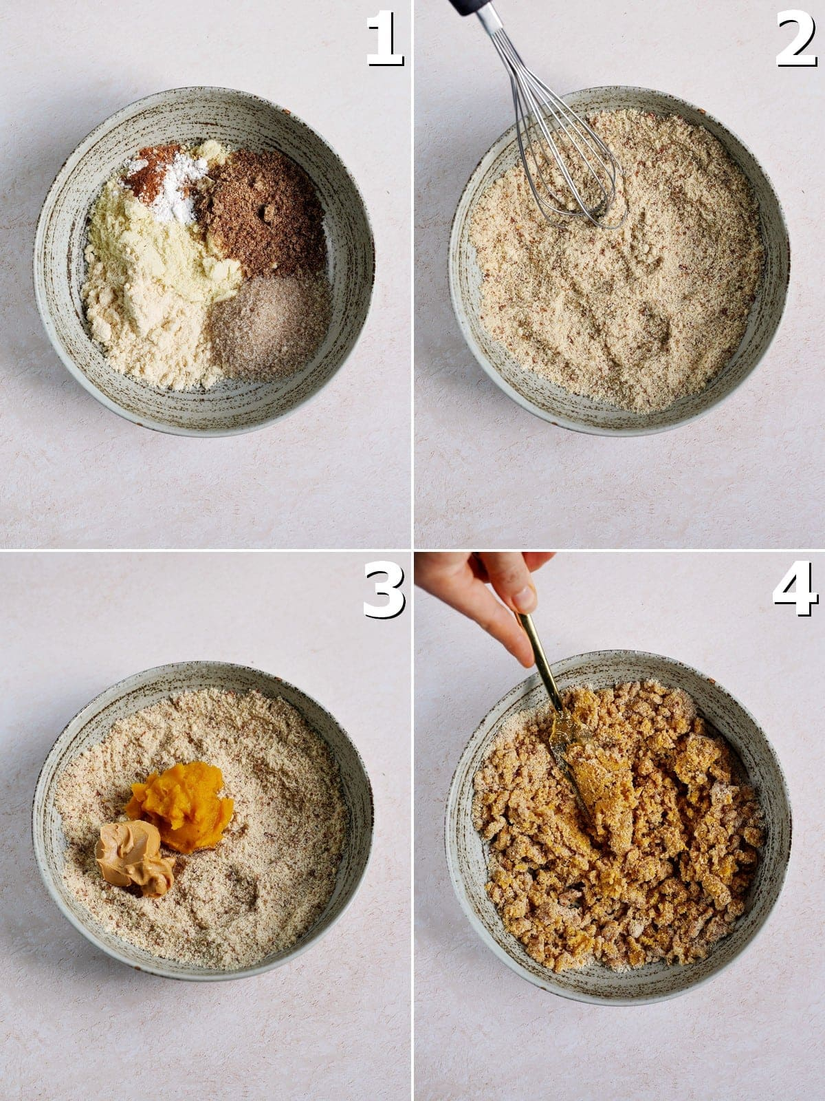 4 step-by-step photos how to make healthy cookie dough