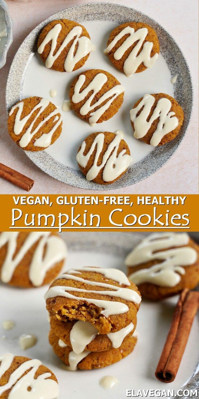 Pinterest Collage vegan gluten-free healthy pumpkin cookies