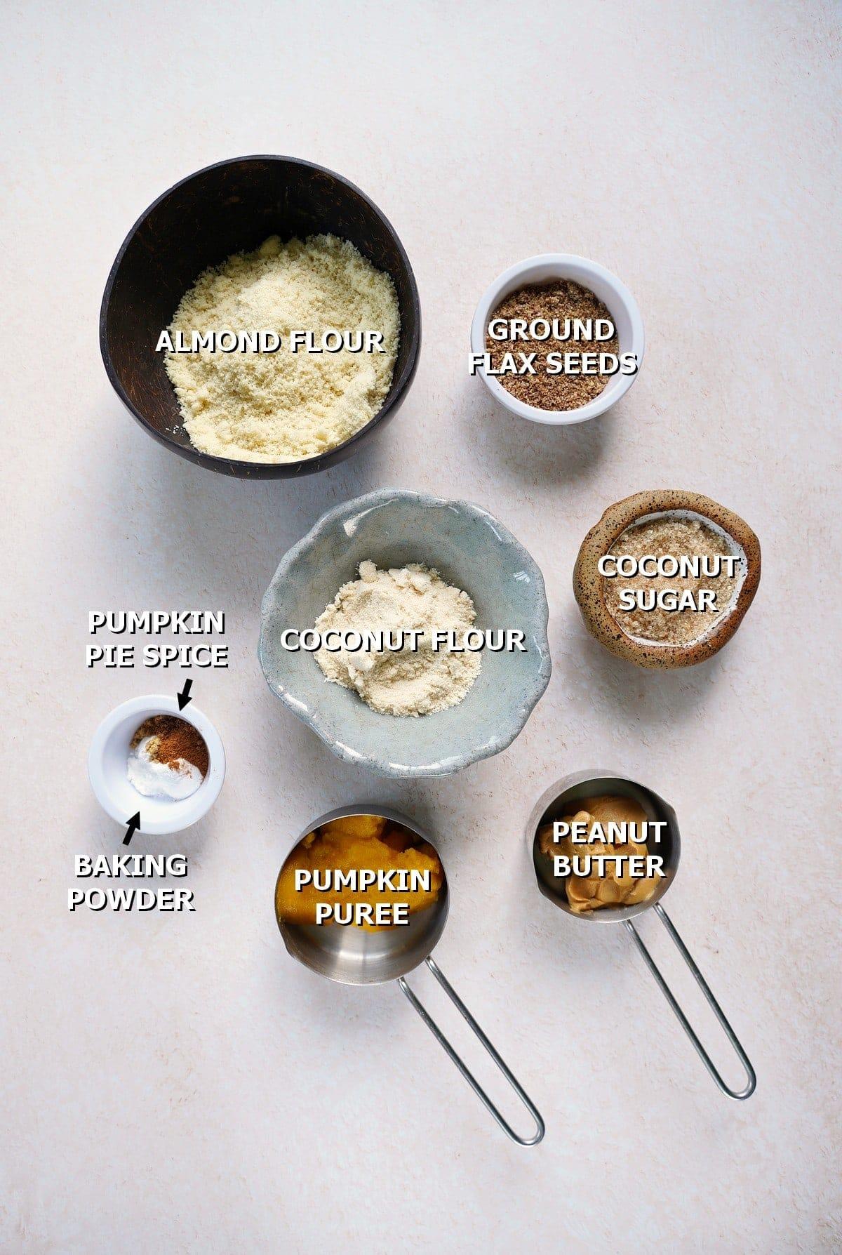 ingredients for healthy pumpkin cookies